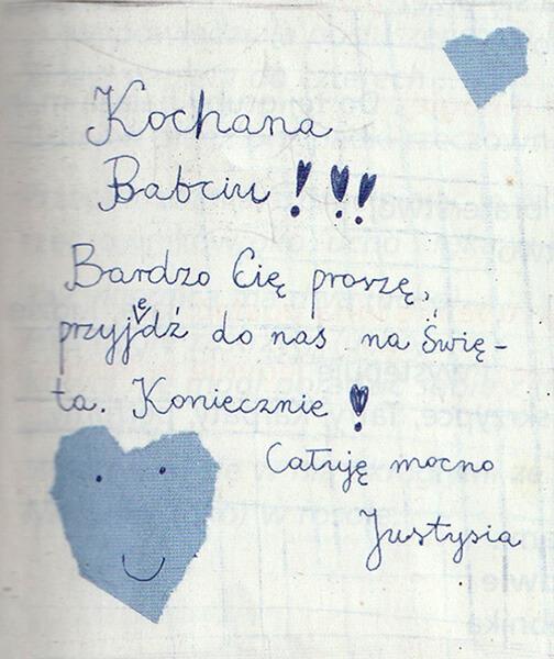 Ребенок пишет по-польски