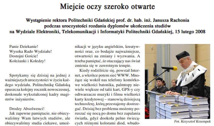 Большая буква в обращении в письме на польском языке